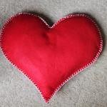 Heart Cushion Red Love Hand..